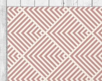 Bold Graphic Stripe Area Rug in Six Colors With Bonus Non-Slip Rug Pad