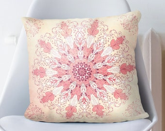 Spring Mandala Pillow Cover Bohemian Home Decor for Zen Home