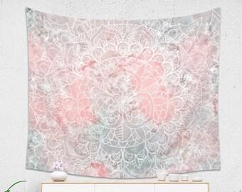 Boho Bright Pink Mandala Pattern Tapestry for Her