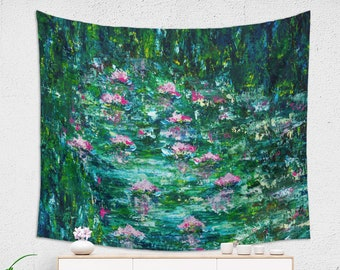 Bohemian Nature Tapestry Impressionist Floral Wall Decor for Her