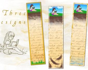 Printable Bookmarks for Girls Kids Bookmarks