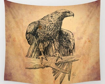 Falcon Tapestry in Four Size Farmhouse Home Decoration in Large Size
