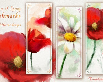Printable Floral Bookmarks for Readers and Flower Lovers