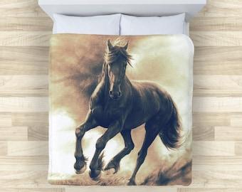 Horse Bedding | Horse Lover Comforter or Duvet Cover| Horse Lover Gift Bedding | Comforter and Duvet Covers for Horse Lovers
