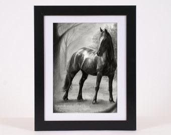 Horse Print Wall Art Print Large Wall Decor for Horse Lovers