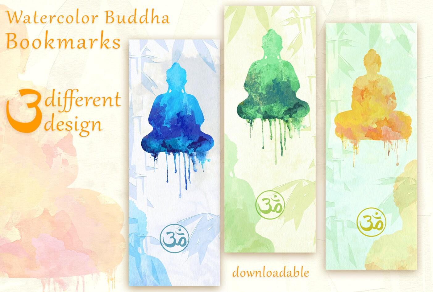 buddha printable bookmarks zen bookmark design buddha | etsy