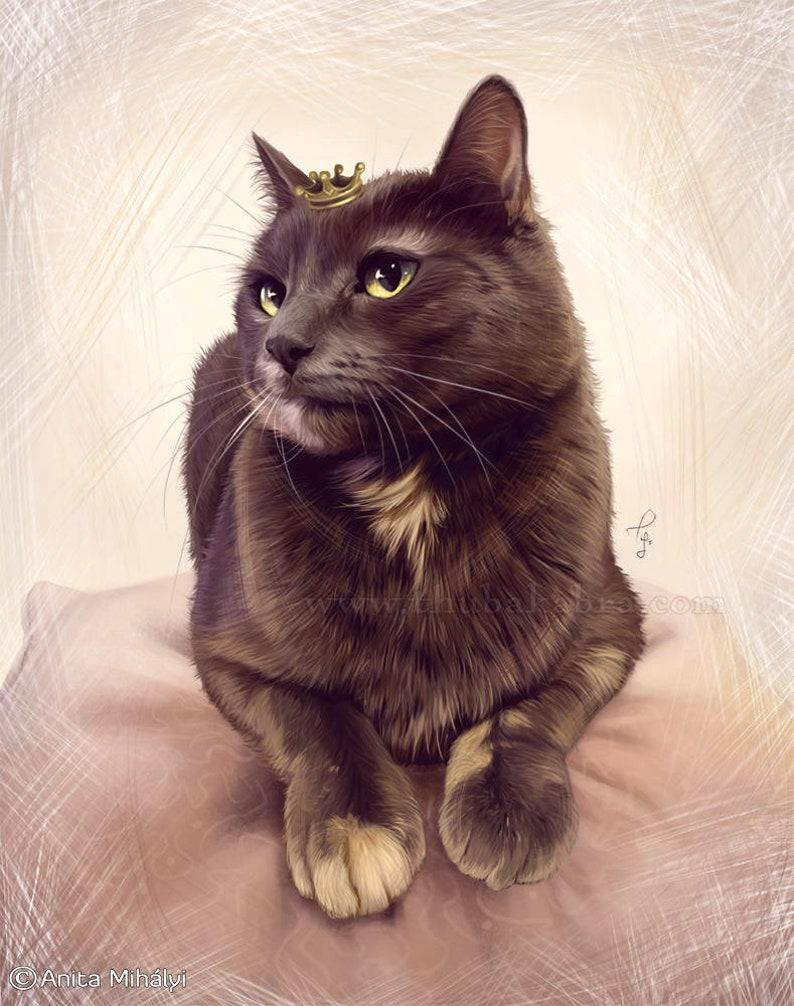 c3d33e3fabc8 Custom Cat Portrait from Photo Personalized Cat Art Painting | Etsy