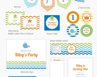 Complete Printable Collection for an Under The Sea Party