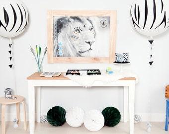 Complete Printable Collection for a Safari / Lion / Zebra / Explorer Birthday Party Design / DIY Modern Printable Party & Birthday Decor