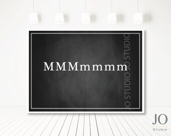 Letter Party M Party / P Party / Rustic Blackboard Sweet Table Backdrop Poster Design / DIY Printable Party & Birthday Decor - Digital File