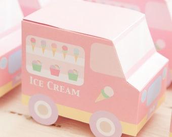 Ice Cream Party / Ice Cream Social / Favour Ice Cream Truck Boxes Design / DIY Modern Printable Party & Birthday Decor - Digital File