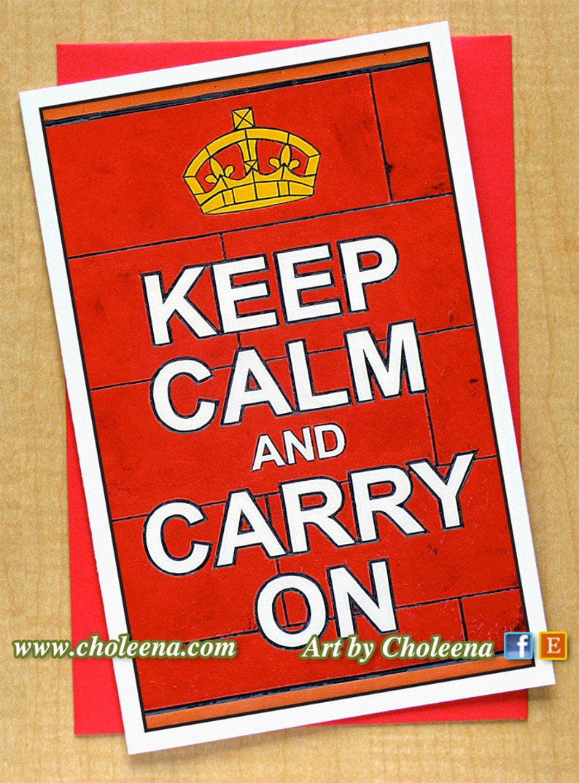 Keep Calm Rouge Personnalisé Anniversaire Carte de vœux