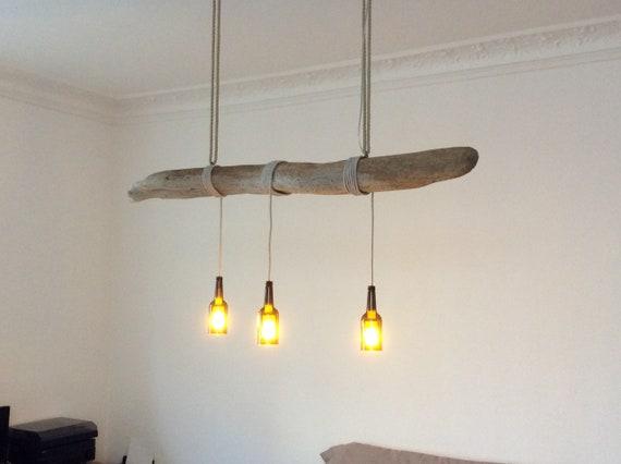 Hängelampe Treibholz hängelampe aus treibholz und braunen glasflaschen treibholz   etsy