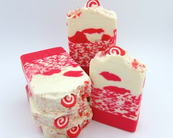 Candy Cane artisan soap