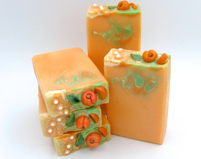 Featured listing image: Just Peachy goat milk artisan soap