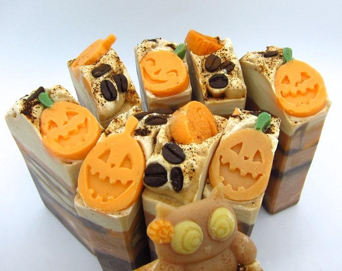 Featured listing image: Pumpkin Mocha Latte artisan soap