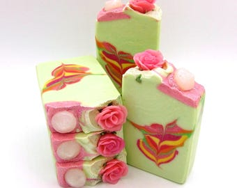 Diamonds and Roses artisan soap
