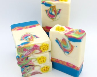 Tropical Bliss goat milk artisan soap