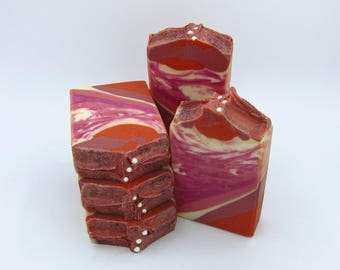Cranberry Fig goat milk artisan soap