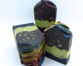 Northern Lights/charcoal soap/homemade soap/hand made soap/natural soap/handcrafted artisan soap/goat milk soap/detox soap/Mother's day soap
