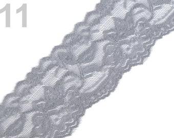 Spitzenborte elastisch Spitzenband Zierband Spitze Spitzenstoff Borte