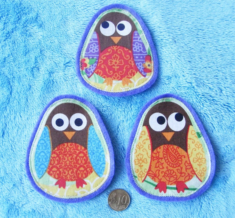 3 Patch Application Owl K\u00e4utzchen Owl