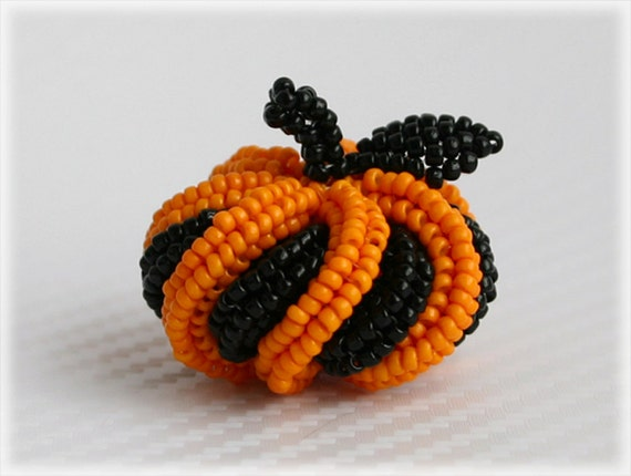 Halloween pumpkin beading TUTORIAL