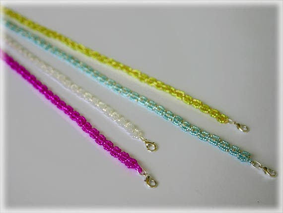 ColoRibbon necklace beading TUTORIAL