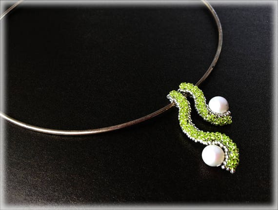 PearlWave pendants beading TUTORIAL