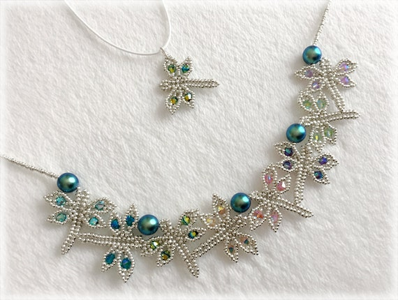 DragonFly pendant and necklace beading TUTORIAL