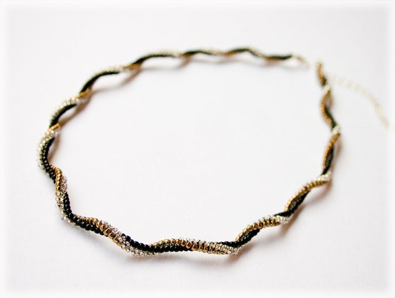 Spiral necklace beading TUTORIAL