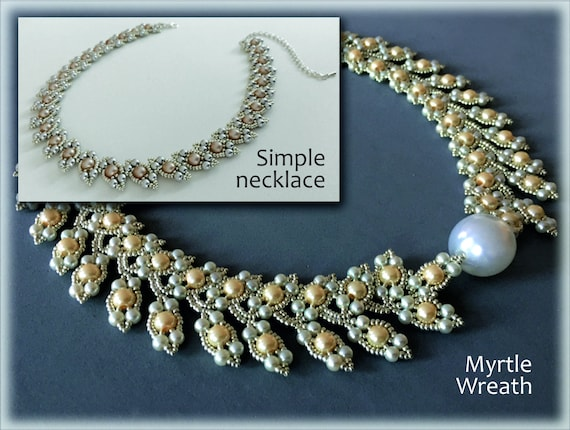 MyrtleWreath necklaces beading TUTORIAL