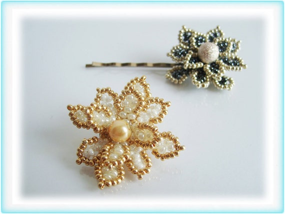Violetta hair ornament beading TUTORIAL