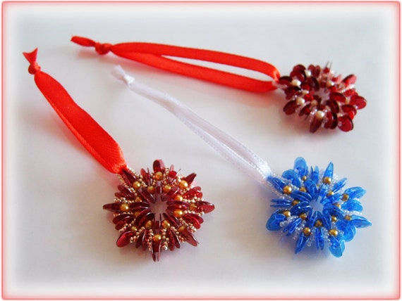 Christmas Wheel beading TUTORIAL