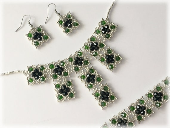 GreeNoire set beading TUTORIAL
