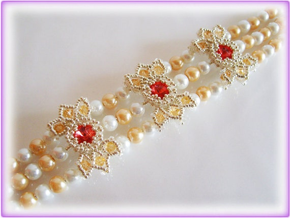 Crystal Sue bracelet beading TUTORIAL