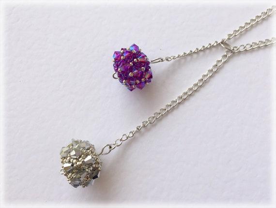 BiconeBerrys pendants beading TUTORIAL