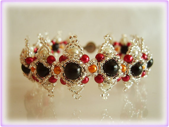 Color piskota bracelet beading TUTORIAL