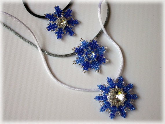 Squill pendants beading TUTORIAL