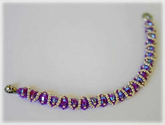 SlimSnake bracelet beading TUTORIAL