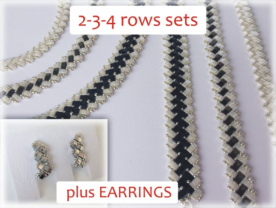 HalfTila sets (plus earrings) beading TUTORIAL