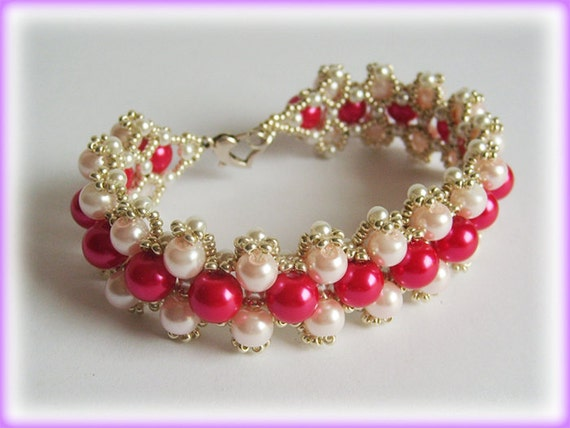 Pink Lady bracelet beading TUTORIAL