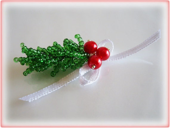 Christmas Tree Branch beading TUTORIAL