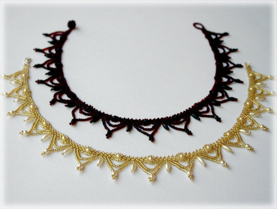 Classic Bead Collar necklace beading TUTORIAL