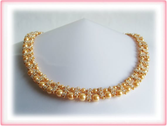 Strass necklace without Strass beading TUTORIAL