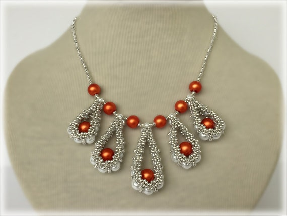 PeaDrops pendants and necklace beading TUTORIAL