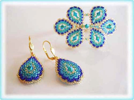 Peacock set beading TUTORIAL