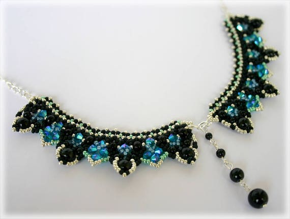LaceCollar necklace beading TUTORIAL