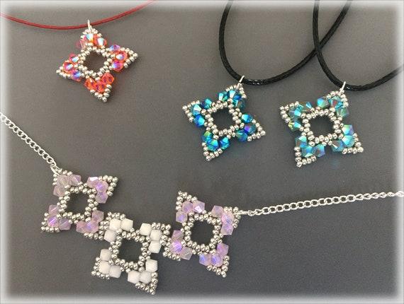 Suriken pendants and necklace beading TUTORIAL