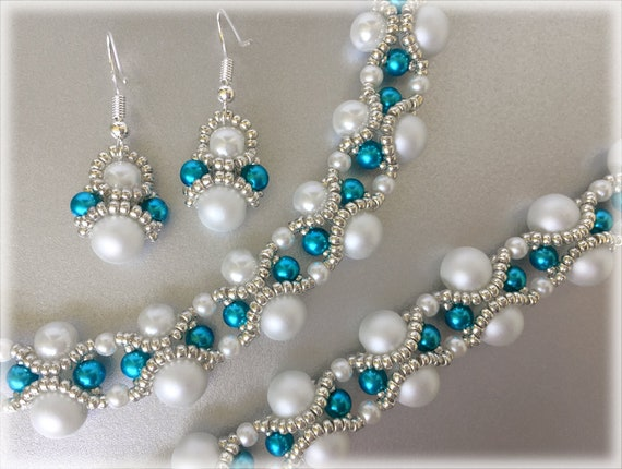 BlueWaves set beading TUTORIAL